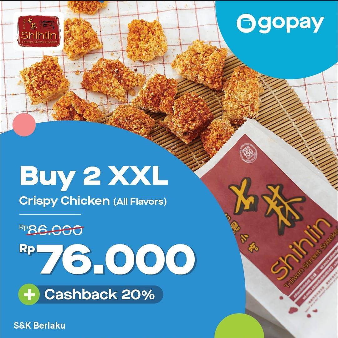 Diskon Shihlin Promo Harga Spesial 2 XXL Crispy Chicken Rp. 76.000 dengan Gopay