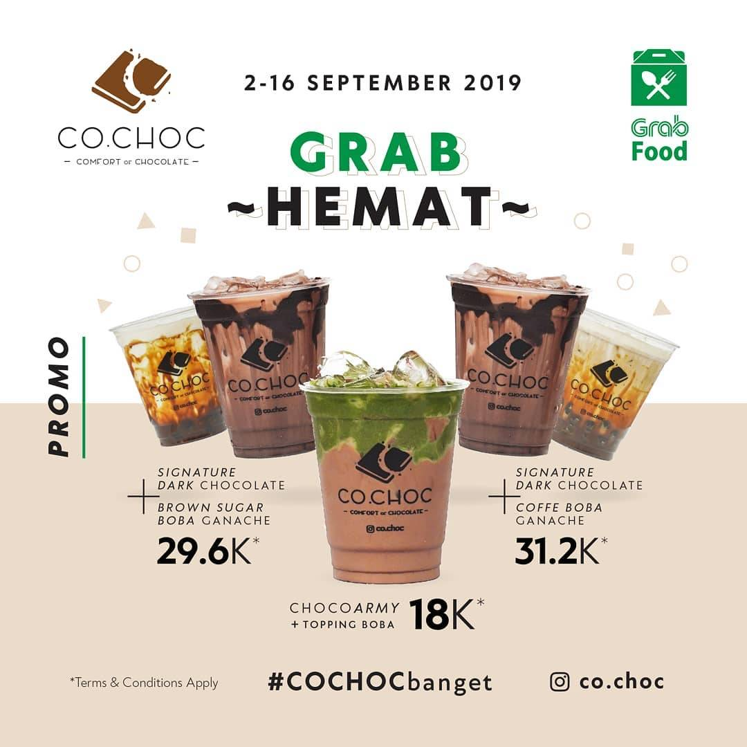 Diskon Co Choc Comfort of Chocolate Promo Grab Food mulai dari 18 K
