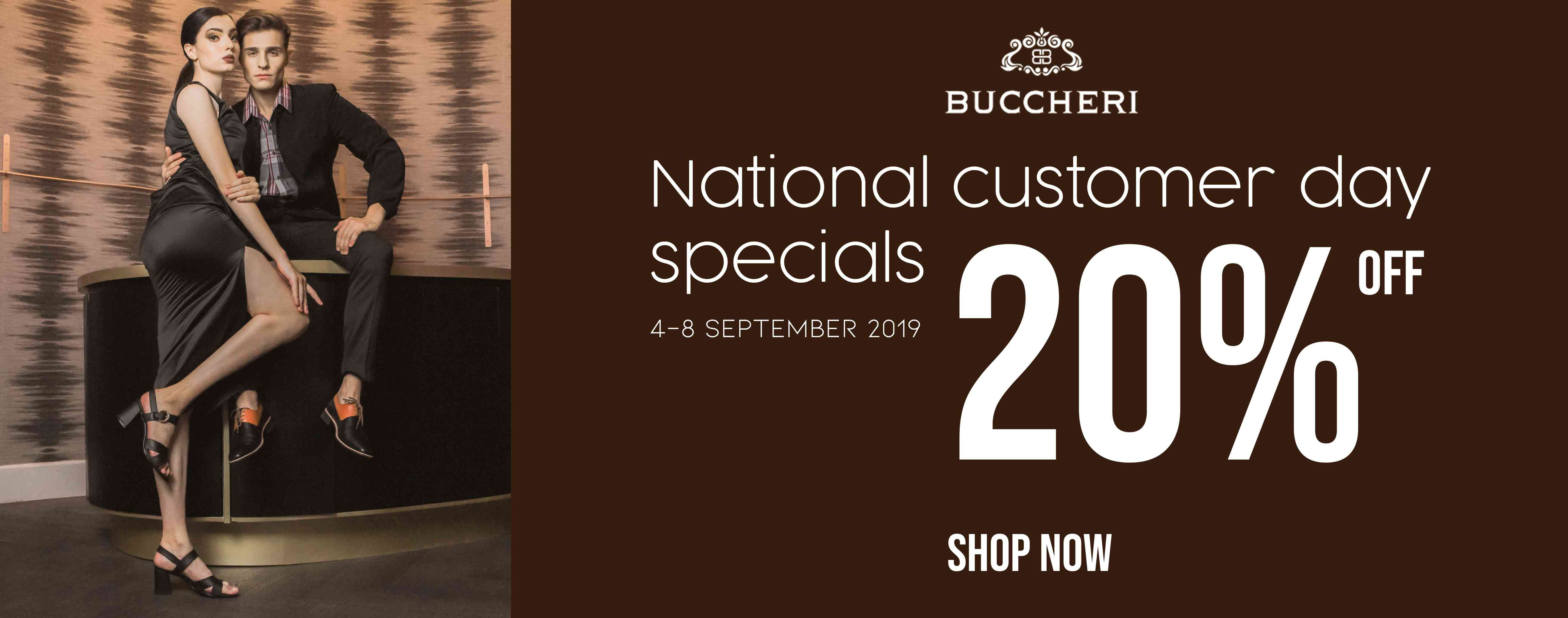 Diskon Buccheri Promo National Customes Day Special Discount 20% Off