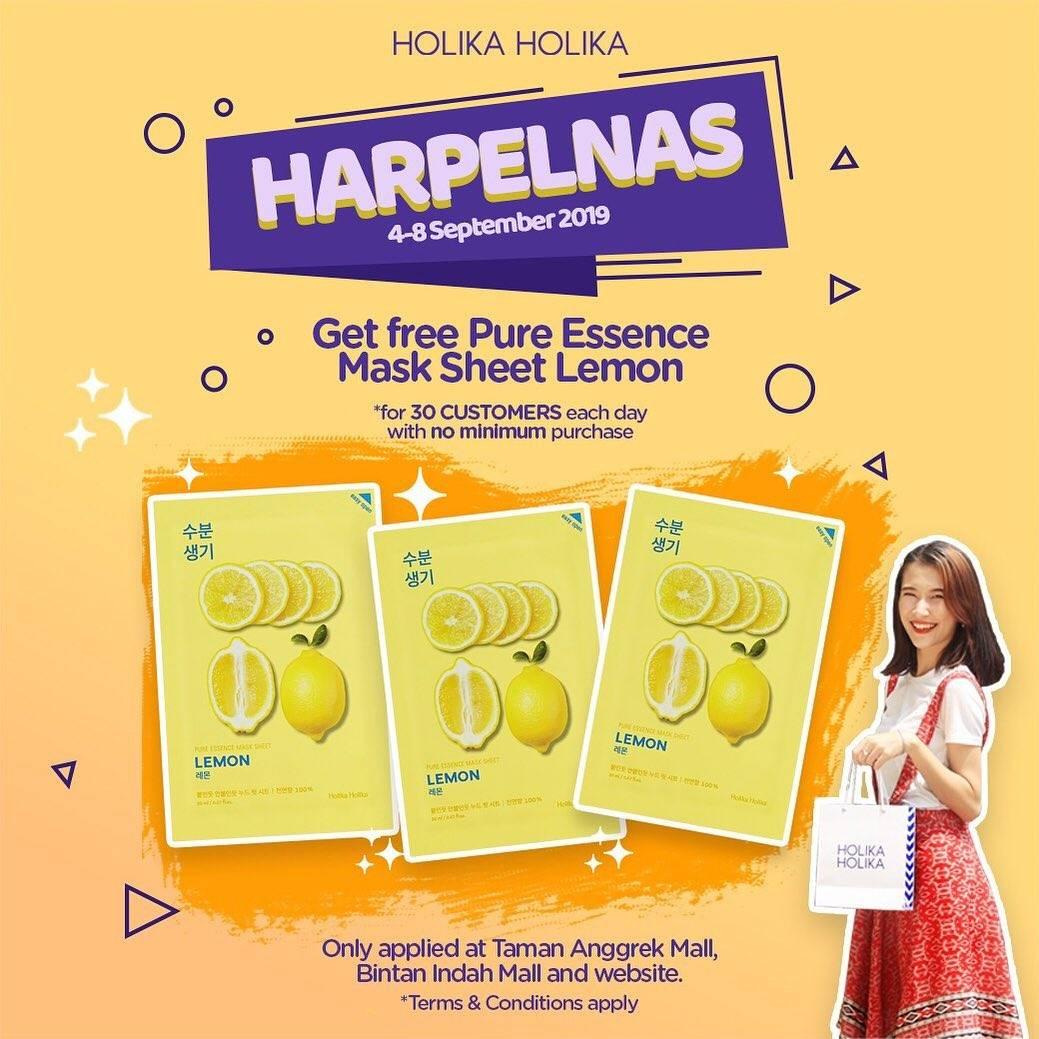 Holika Holika Promo Hari Pelanggan Nasional untuk 30 pelanggan pertama