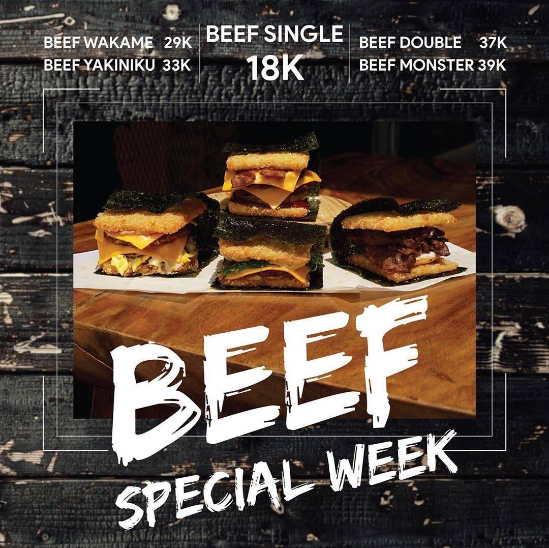 Burgushi Promo Beef Special Week mulai dari 18k