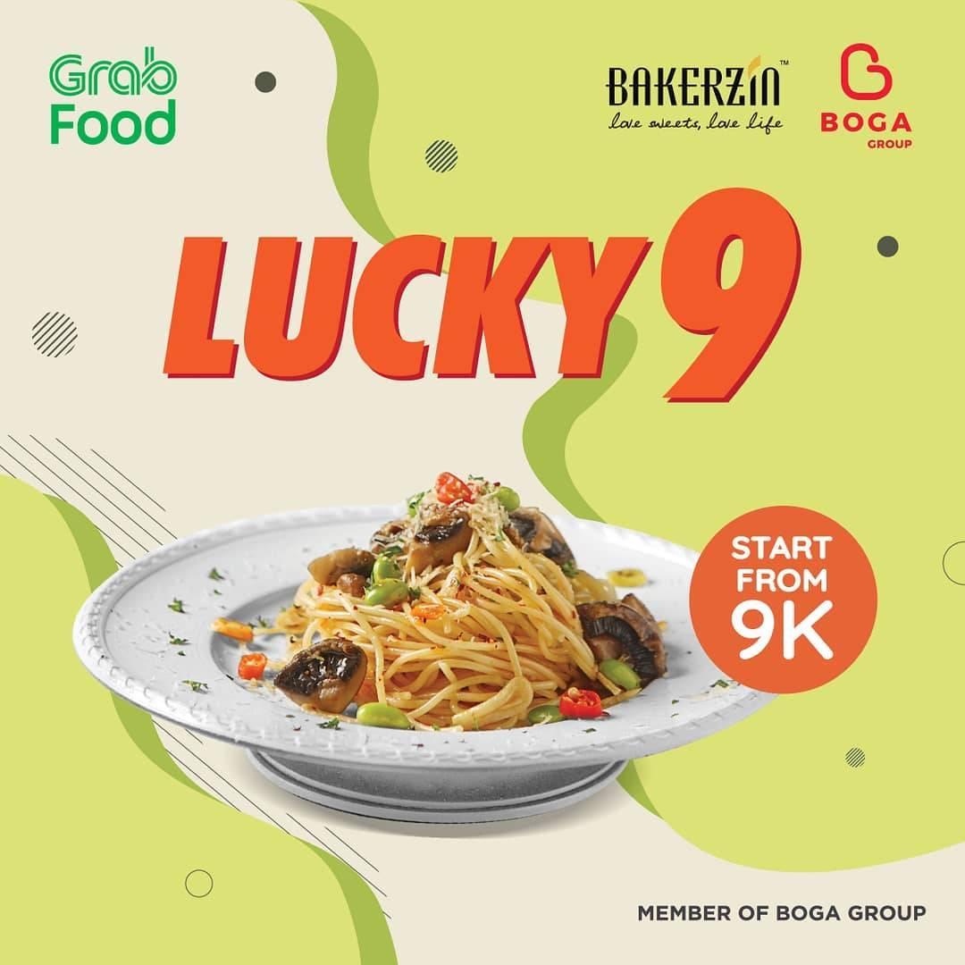 Bakerzin Promo Lucky 9 Harga Spesial Menu Pilihan via GrabFood