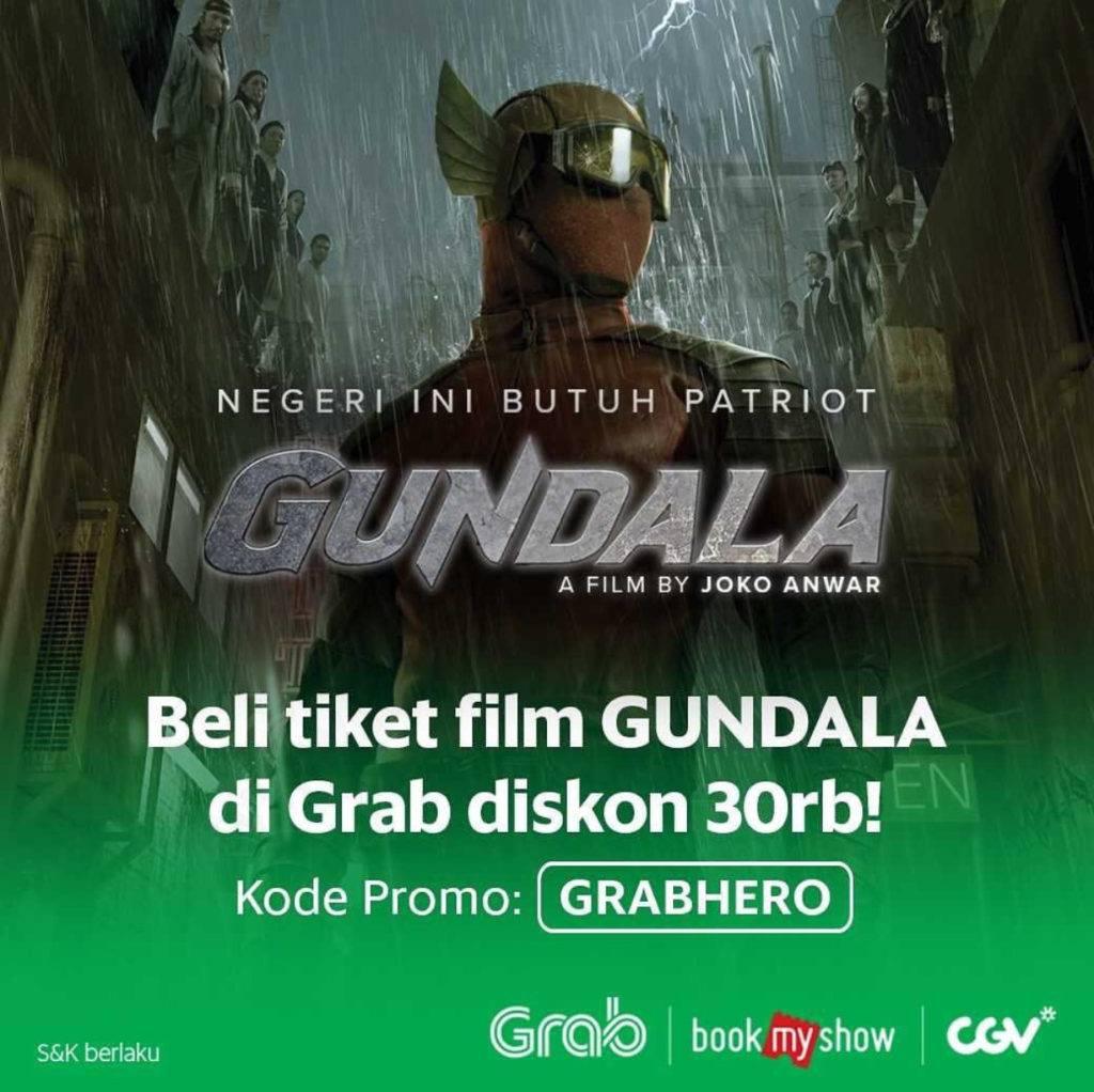 Diskon 50% Beli Tiket Film Gundala di CGV Lewat GRAB
