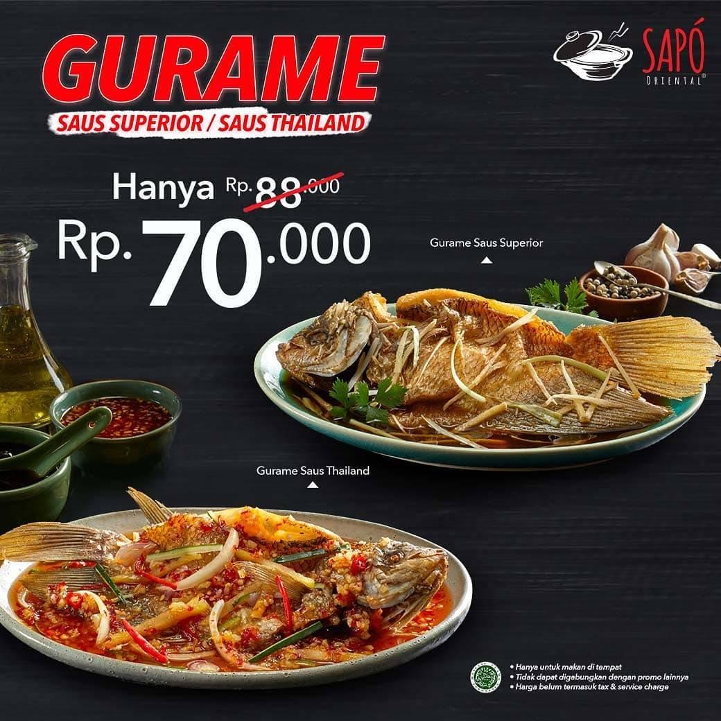 Diskon Sapo Oriental Promo Harga Spesial Gurame Saus Superios atau Saus Thailand Rp 70.000