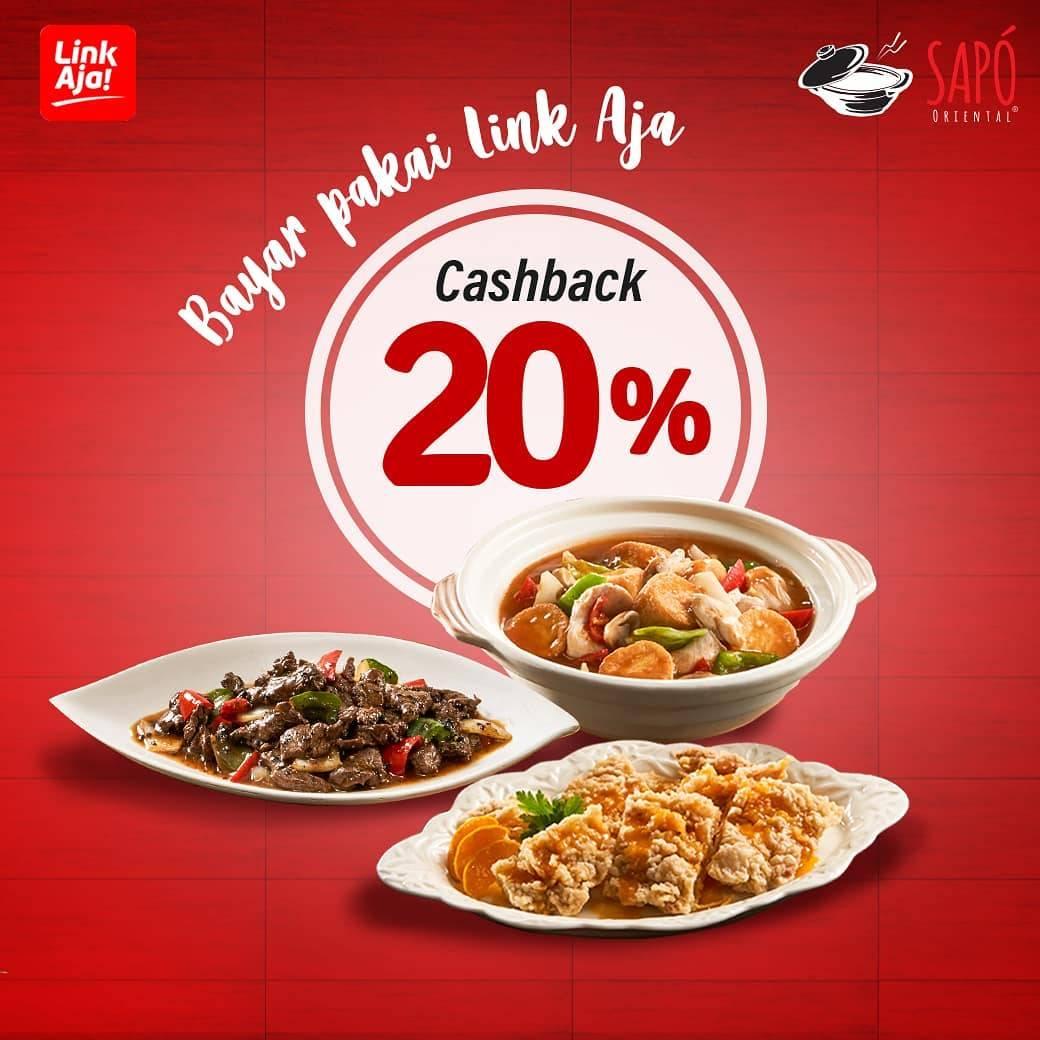 Sapo Oriental Promo Cashback 20% dengan LinkAja