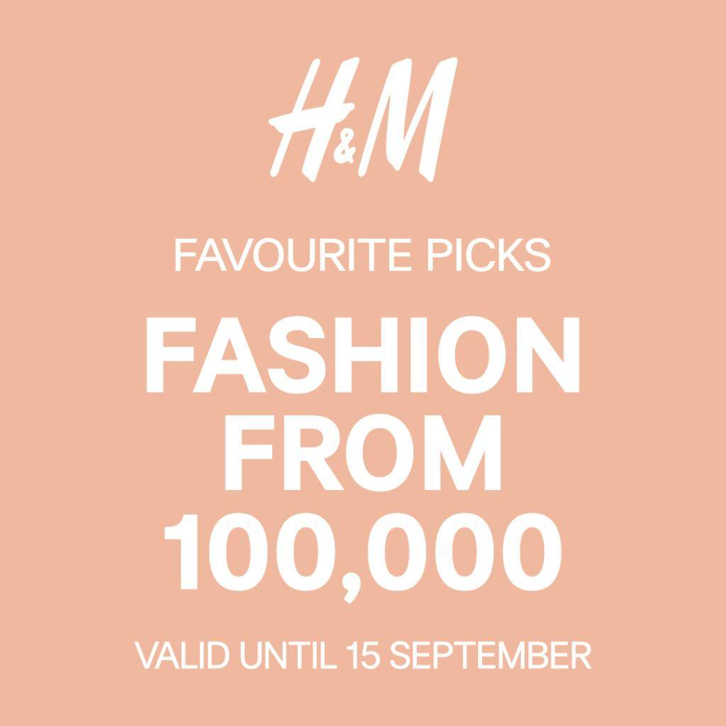 H&M Promo Favourite Picks Fashion From Rp 100.000
