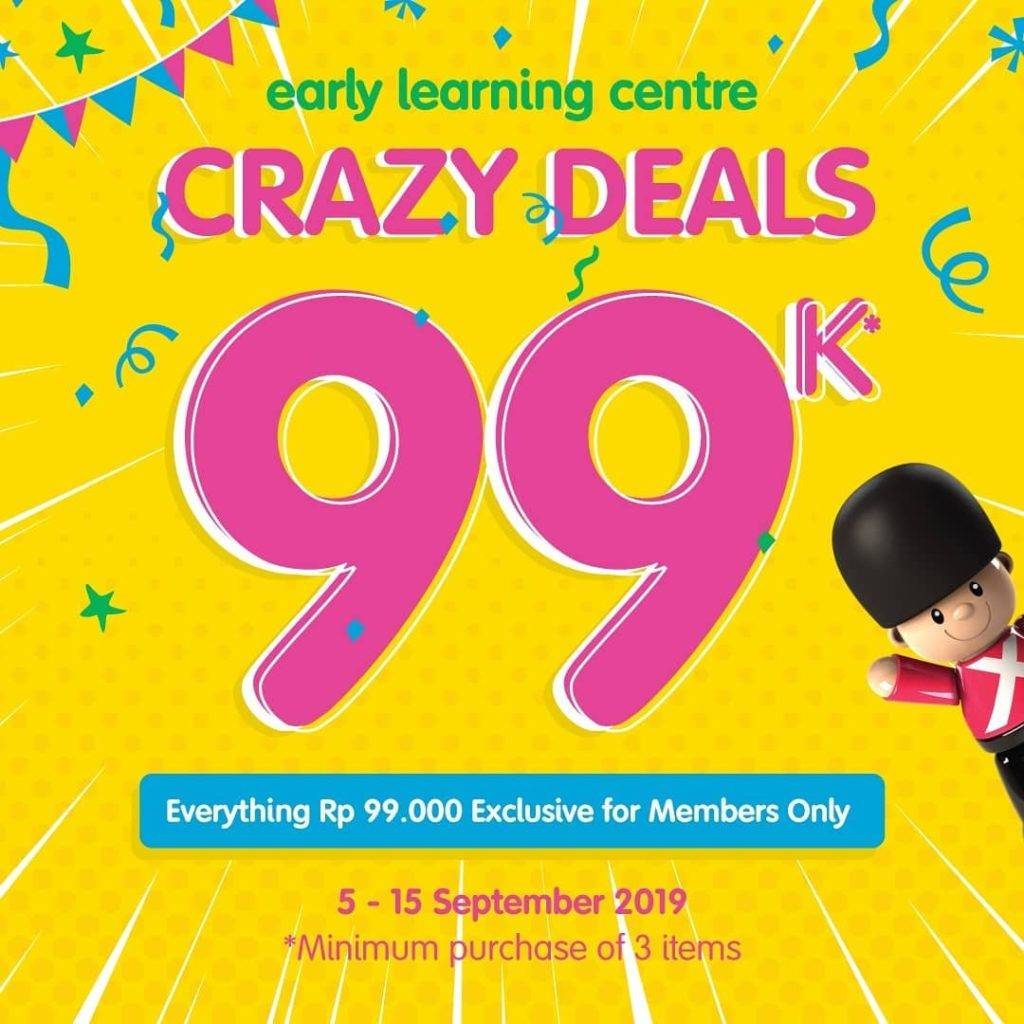 Diskon ELC Indonesia Crazy Deals Harga Spesial Koleksi Mainan Pilihan Hanya Rp. 99.000