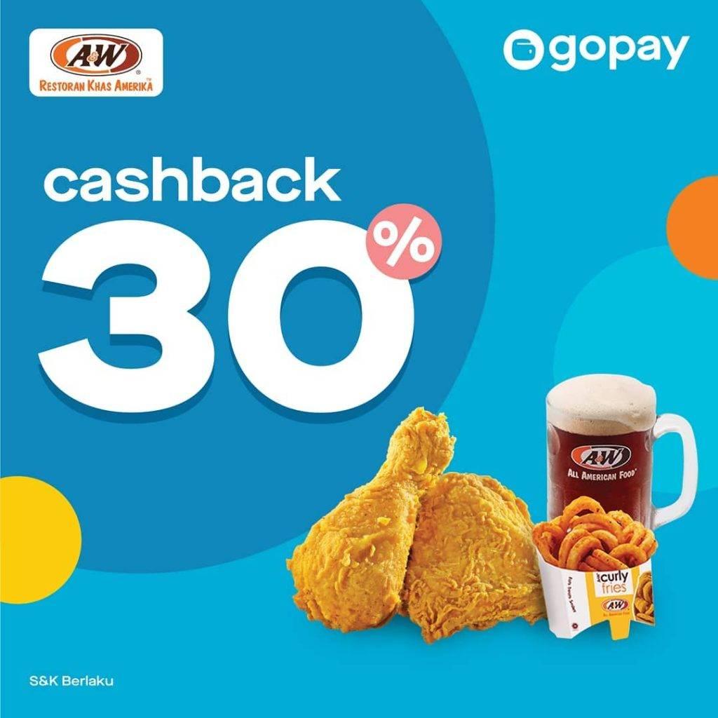 A&W Promo CASHBACK 30% dengan GOPAY