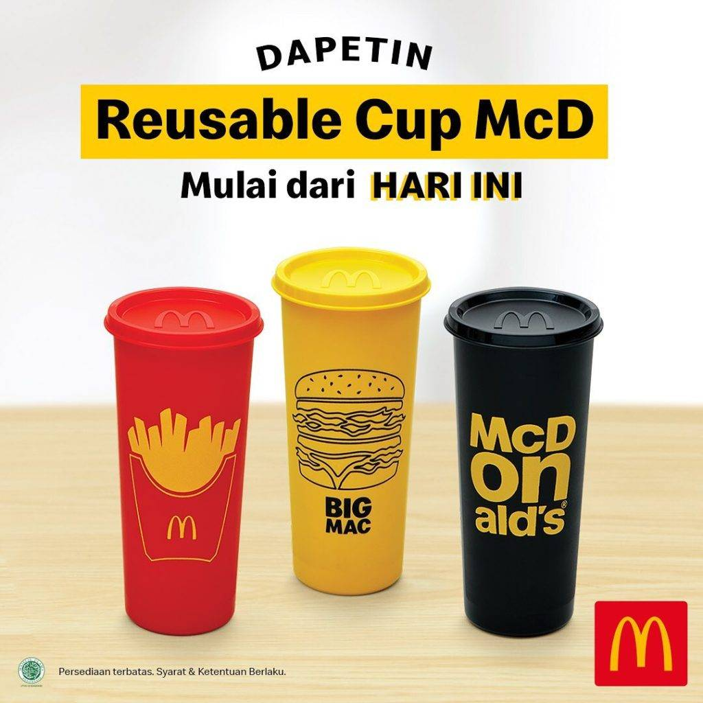 McDonalds Promo Gratis Reusable Cup