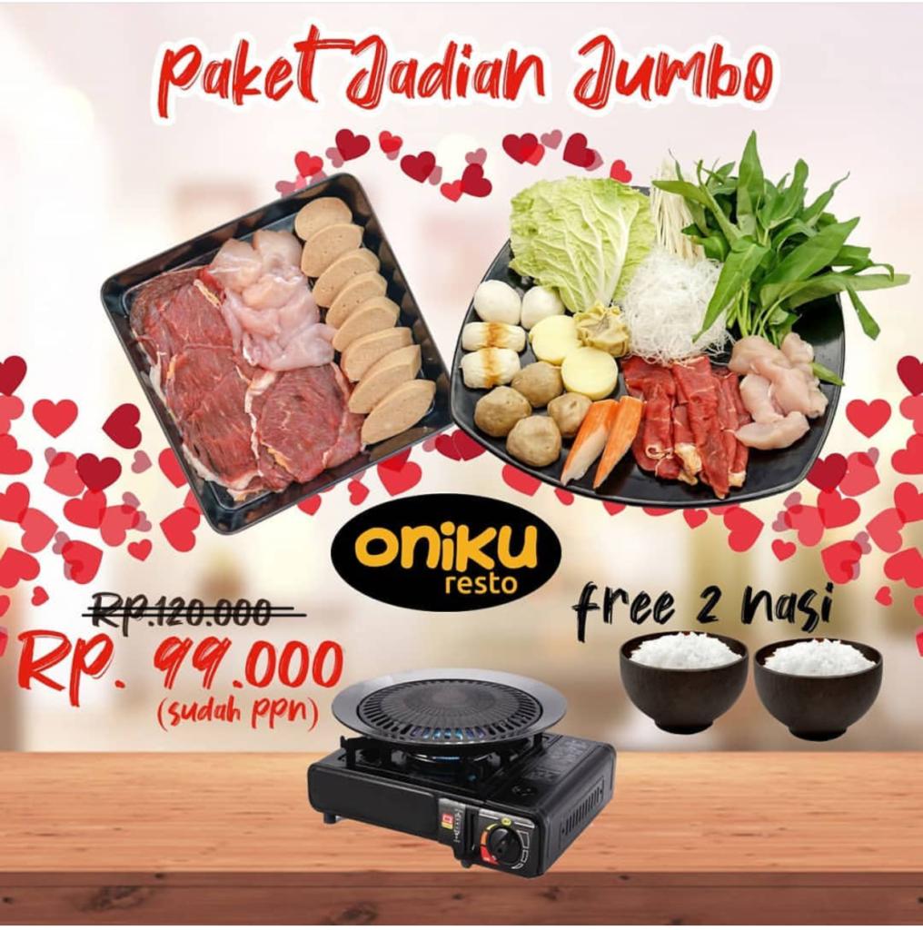 Diskon Oniku Resto Paket JADIAN – Hanya 99.000 buat Berdua