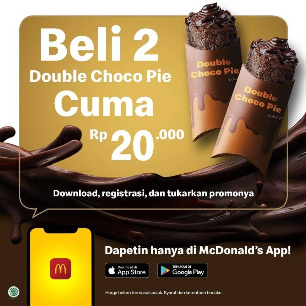 Mcdonalds Promo 2 Double Choco Pie Hanya Rp. 20 Ribu