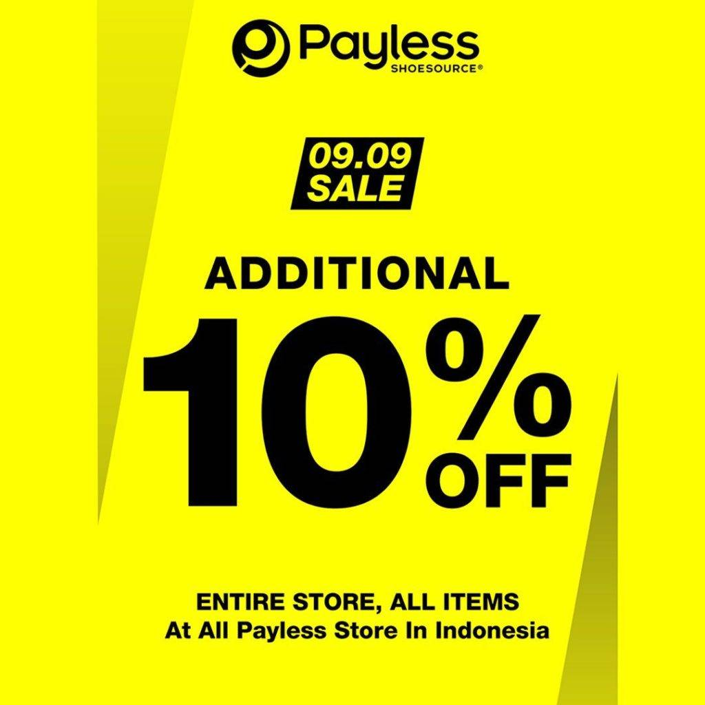 Diskon Payless Shoesource Promo 09.09 SALE – ADDITIONAL 10% OFF