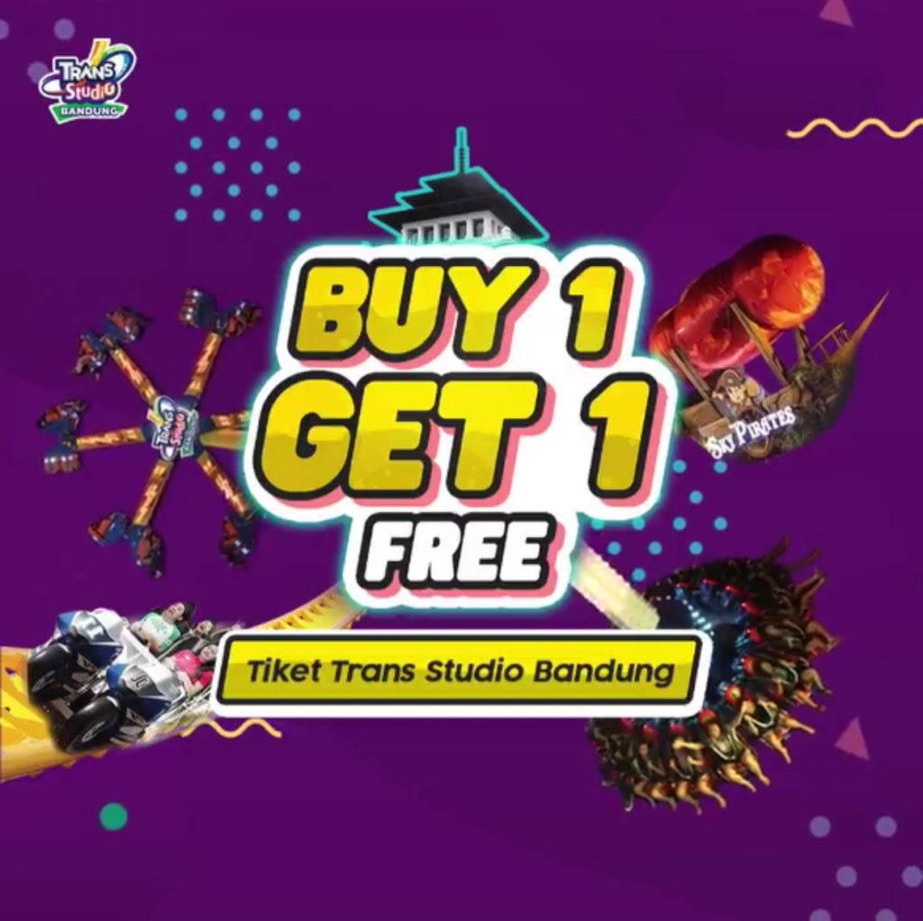 Trans Studio Bandung BELI 1 GRATIS 1 khusus pemegang KTP Kota atau Kabupaten Bandung dan Cimahi
