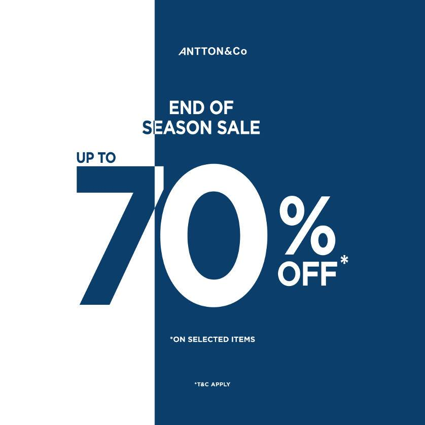 Diskon ANTTON & Co End Of Season Sale up to 70%