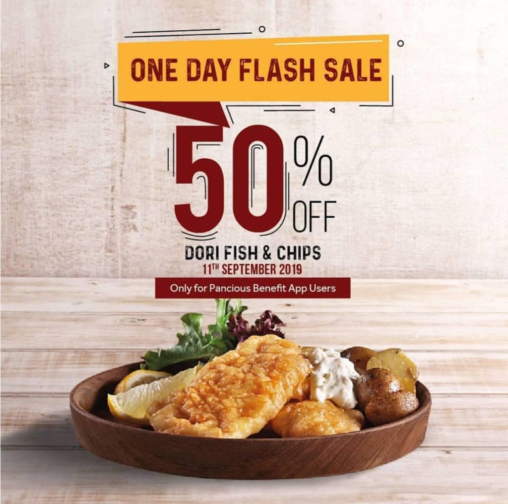 Pancious Promo Diskon 50% untuk Menu Dori Fish & Chips