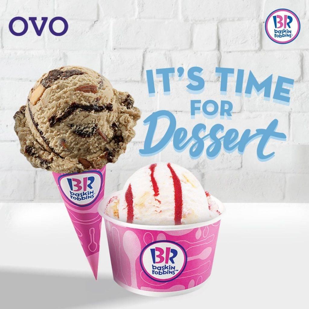 Diskon Baskin Robbins Promo Harga Spesial untuk Single Scoop + Cashback 30% dengan OVO