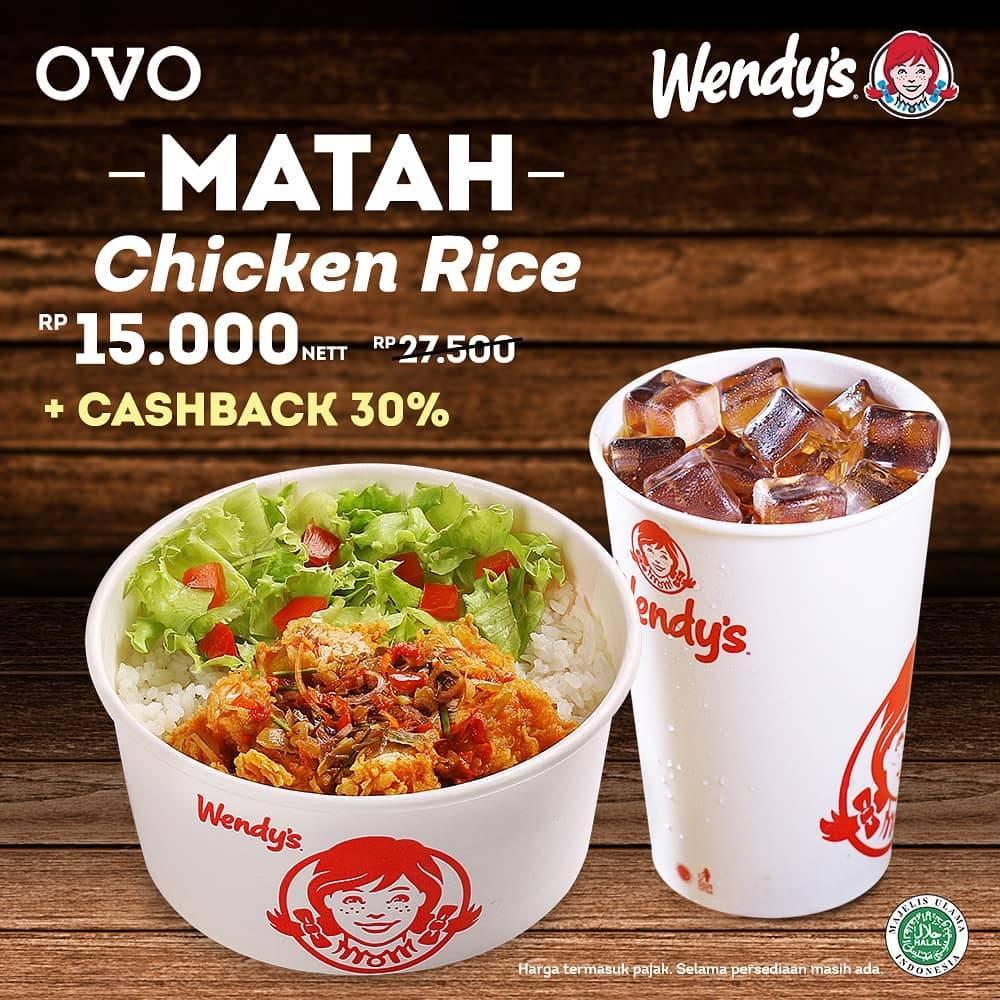 Wendys Promo Paket Matah Chicken Rice Hanya Rp. 15.000