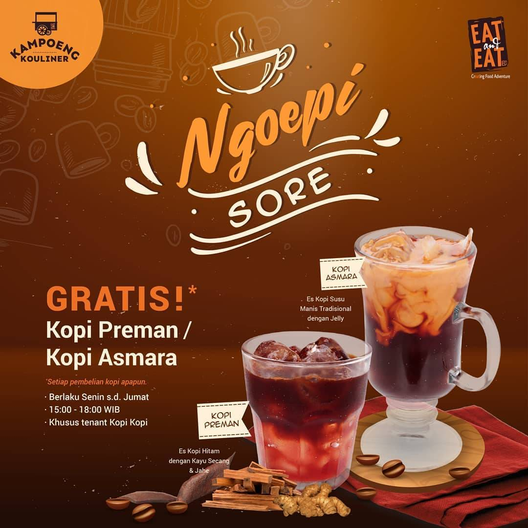 Diskon EAT and EAT Promo Ngopi Sore di Eat & Eat Soho Pancoran