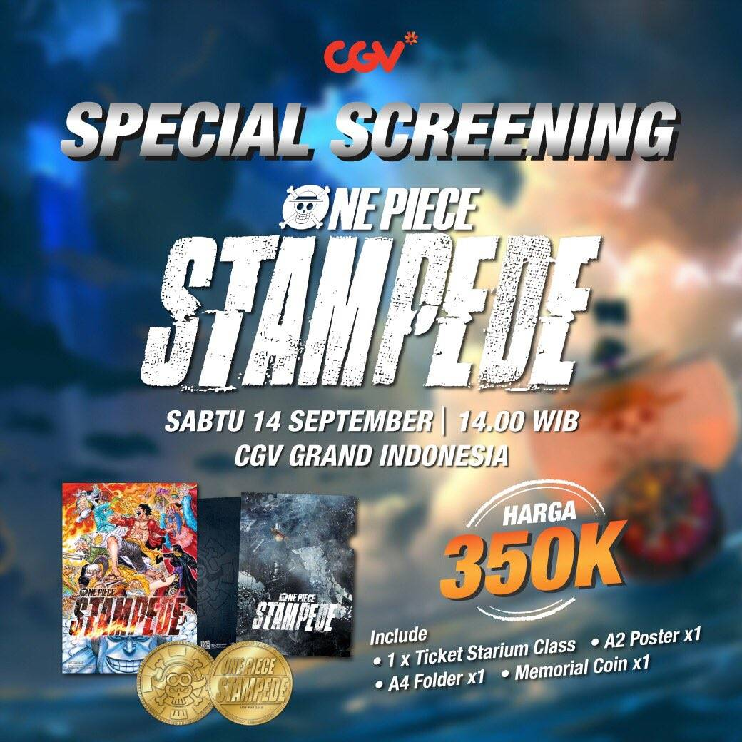 Diskon CGV Promo One Piece Stampede di CGV GRAND INDONESIA
