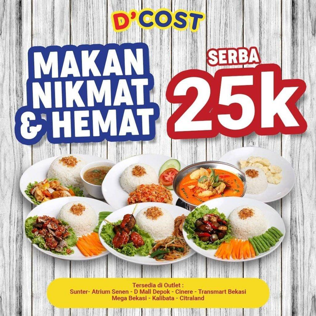 D'Cost seafood Promo Paket Serba Rp. 25.000