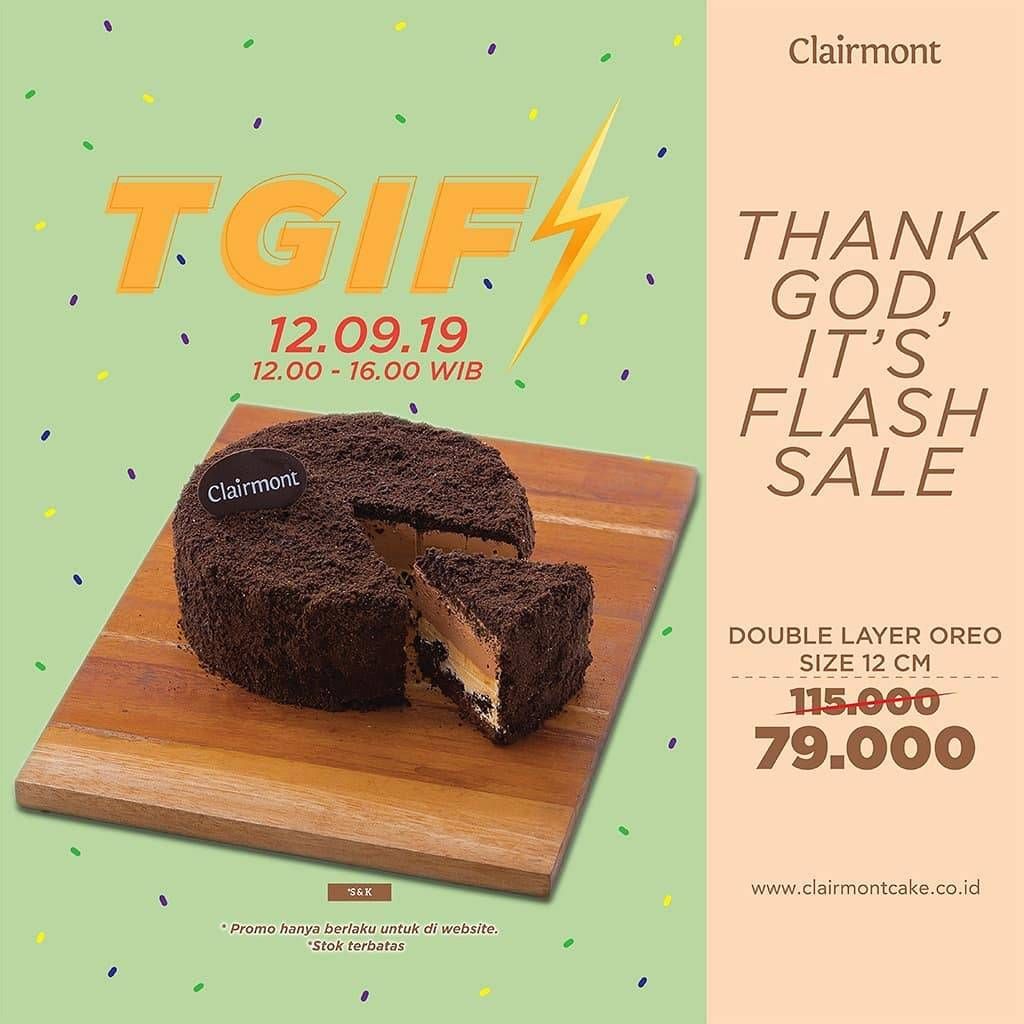 Clairemont Thank God It's Flash sale Double Layer Oreo hanya 79,000