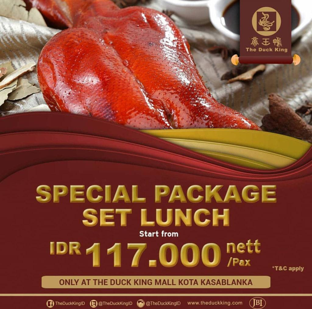 The Duck King Kota Kasablanka Packet Set Lunch mulai Rp. 117.000