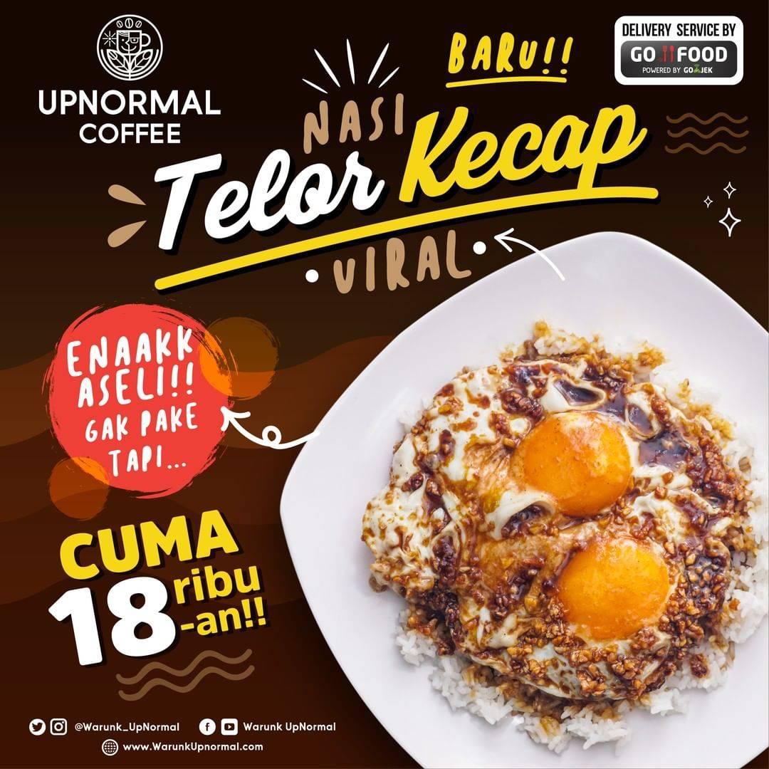Diskon Warunk Upnromal Promo Nasi Telor Kecap Viral cuma Rp. 18.000an