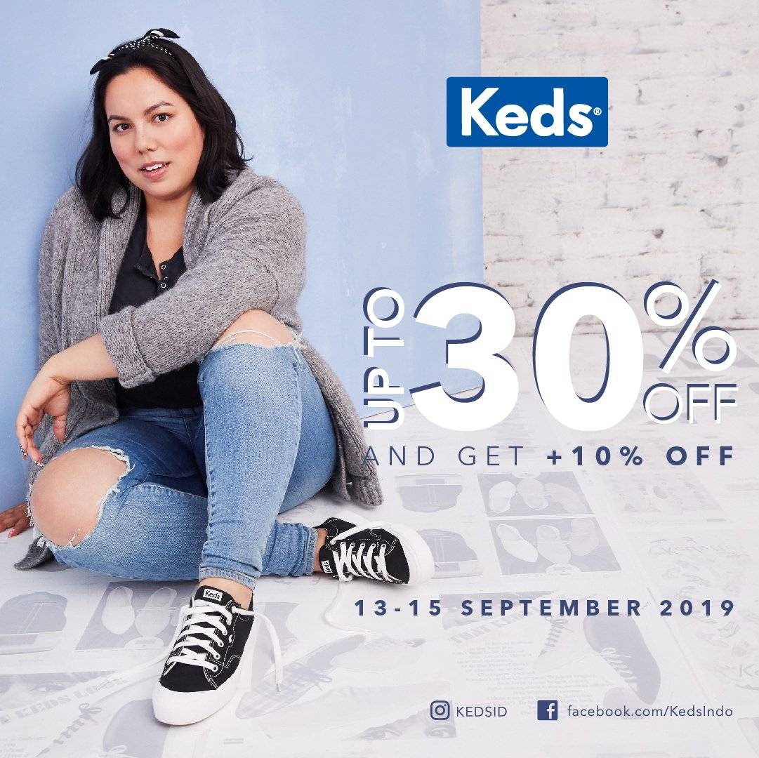 Diskon Keds Ladies Unite up to 30% off and Get +10% off