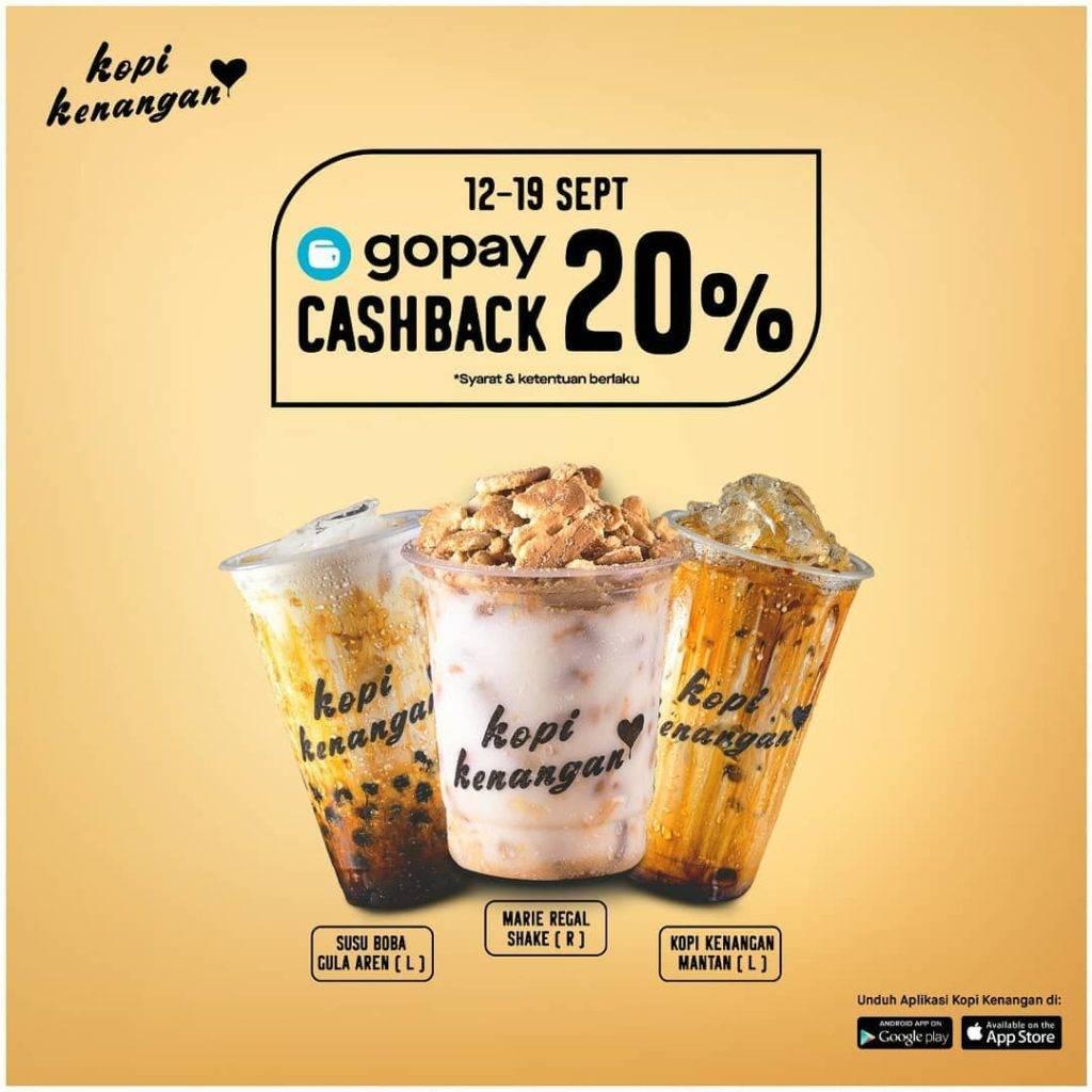 Kopi Kenangan Promo Cashback 20% dengan Gopay Khusus Aplikasi
