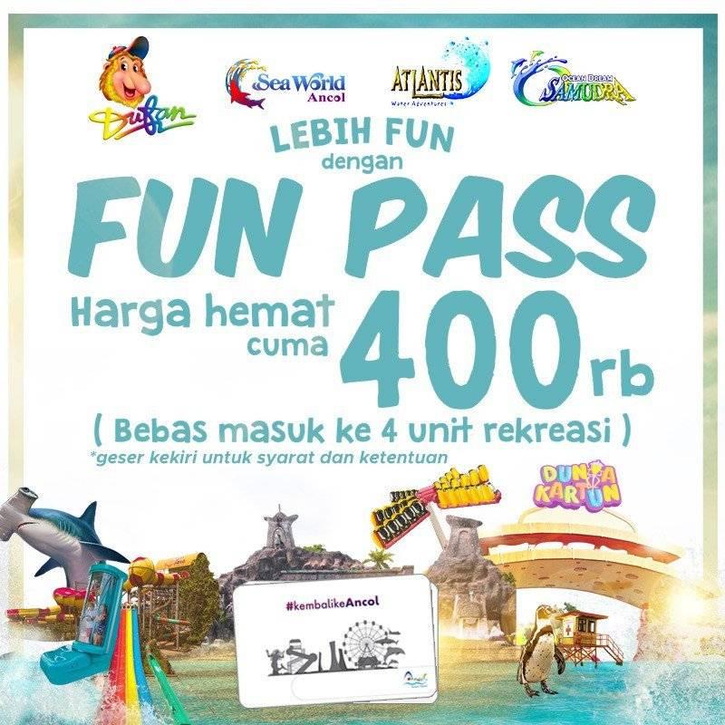 Taman Impian Jaya Ancol Promo Fun Pass Beli Tiket 4 Wahana Sekaligus Hanya Rp. 400 Ribu