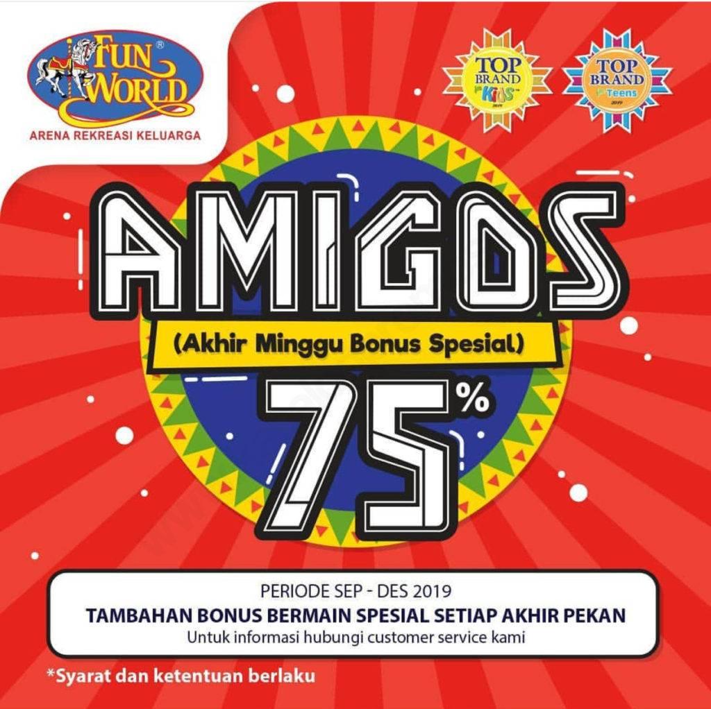 Funworld Amigos Akhir Minggu Bonus Spesial Bonus Saldo Hingga 75%