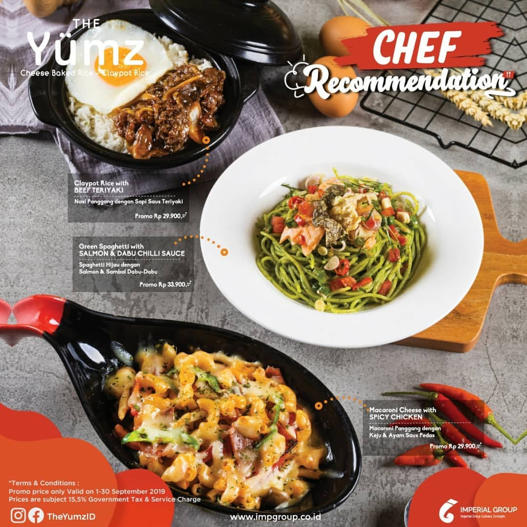 The Yumz Promo Menu Chef Recommendation mulai Rp. 29.900