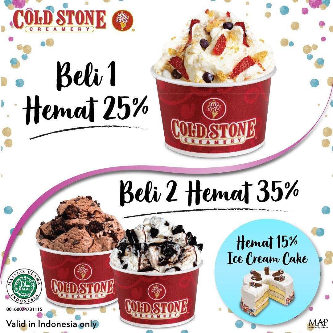 COLD STONE CREAMERY Promo Diskon hingga 35% untuk Signature Ice Cream dan Diskon 15% untuk ICE CREAM