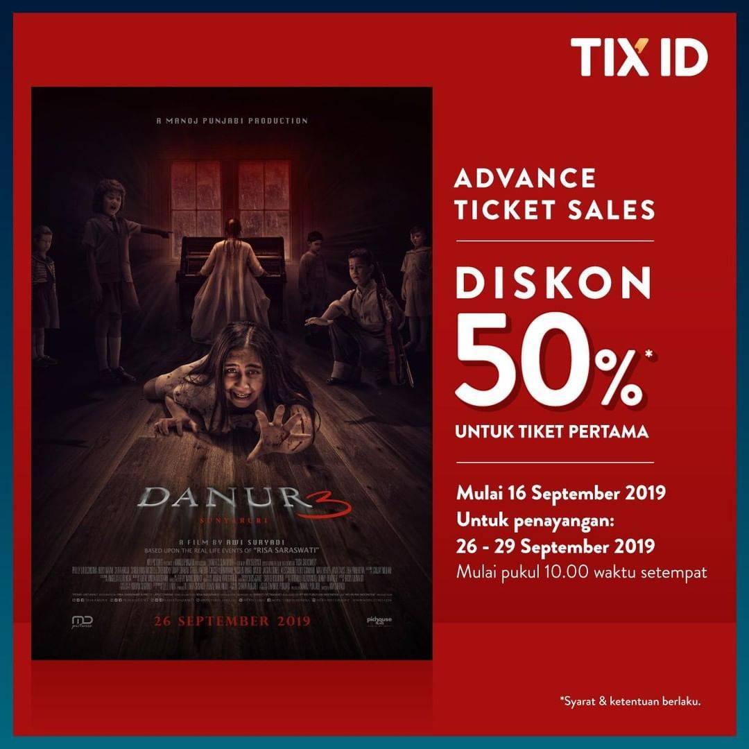 TIX ID Promo Diskon 50% Untuk Tiket Pertama Film Danur 3: Sunyaruri
