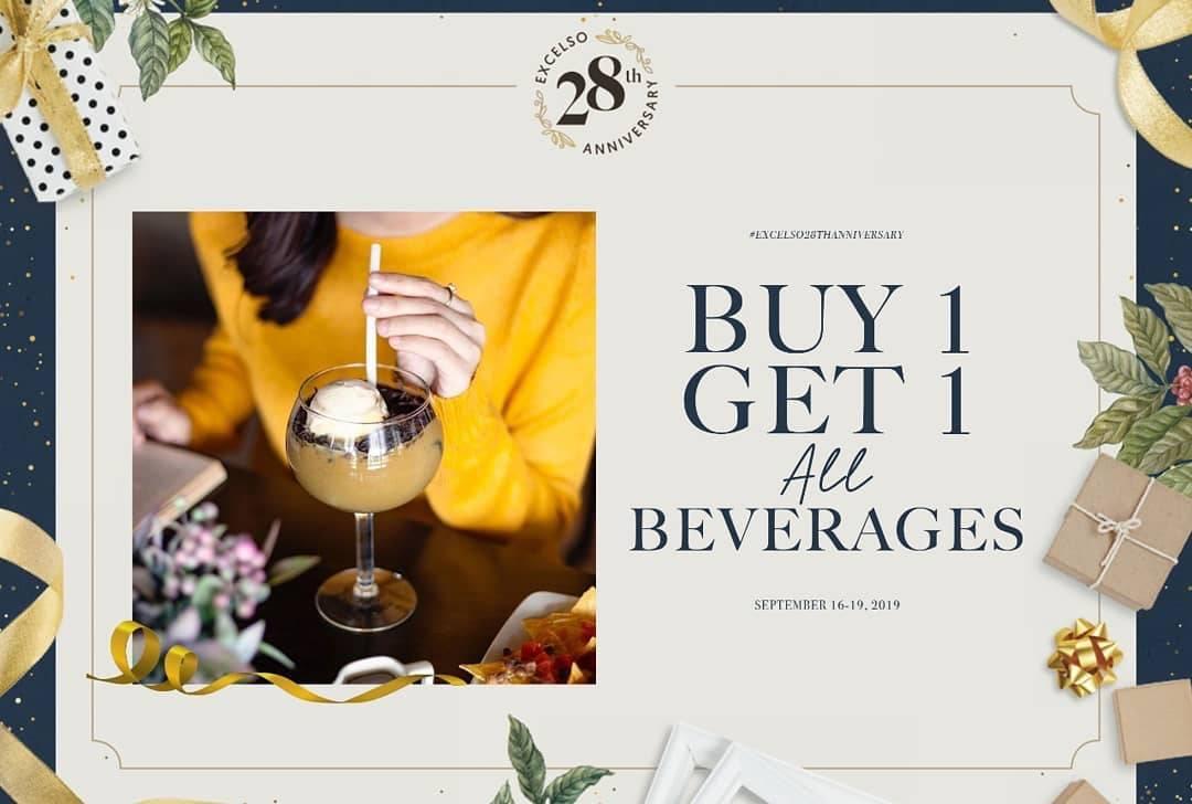Diskon EXCELSO Promo Buy 1 Get 1 All Beverages Dengan Kupon LINE