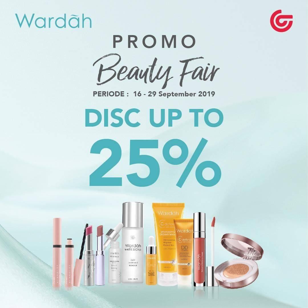 Matahari Department Store Promo Beauty Fair – DISKON hingga 25% untuk produk dari WARDAH