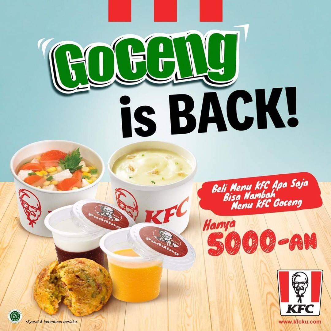 KFC GOCENG is BACK! Beragam menu pilihan cuma Rp. 5.000 aja
