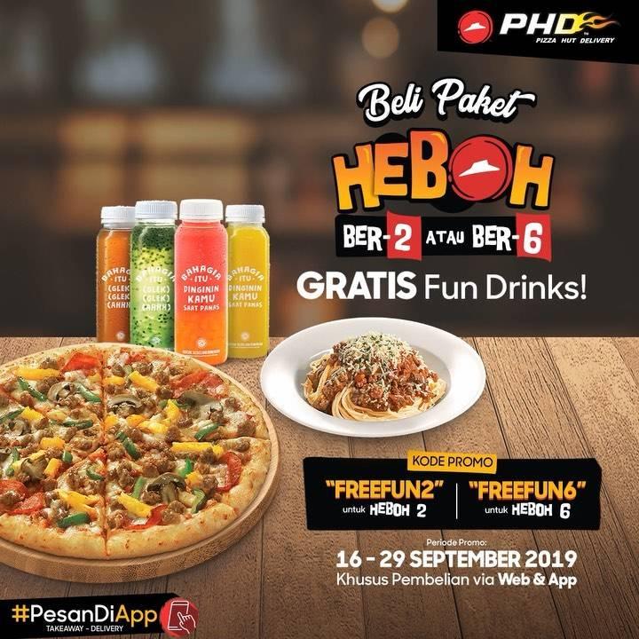 Diskon PHD Promo GRATIS Fun Drinks untuk pembelian Paket HEBOH