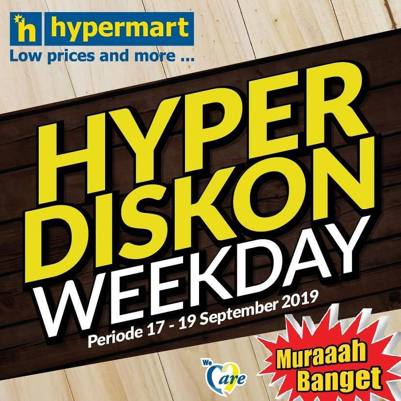 Diskon HYPERMART Katalog Belanja dan Promosi periode 17-19 September 2019