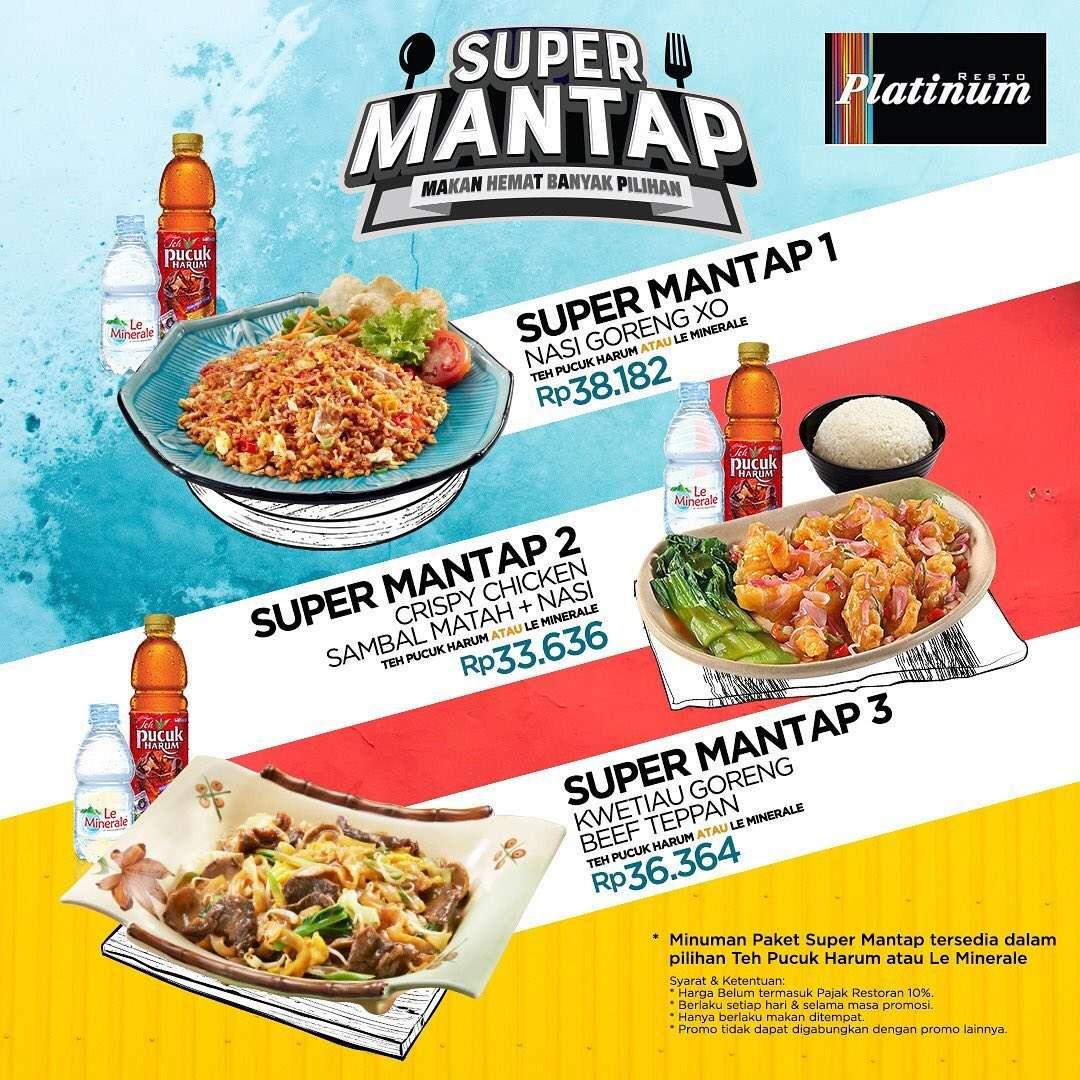 PLATINUM RESTO Promo Paket Super Mantap – Harga mulai Rp. 33.636