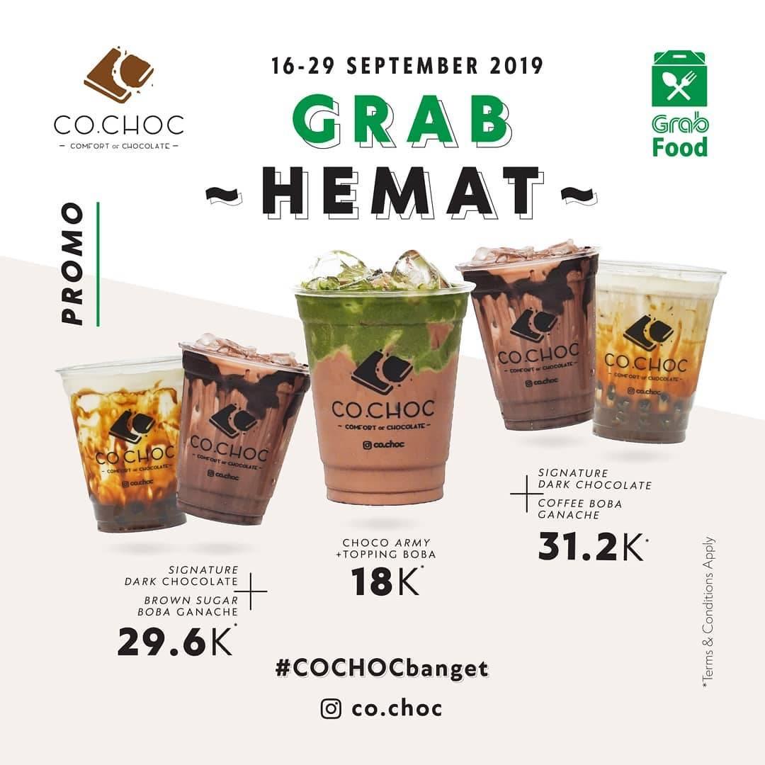 Diskon CO.CHOC Promo Grab Food Hemat Harga mulai dari 18.000