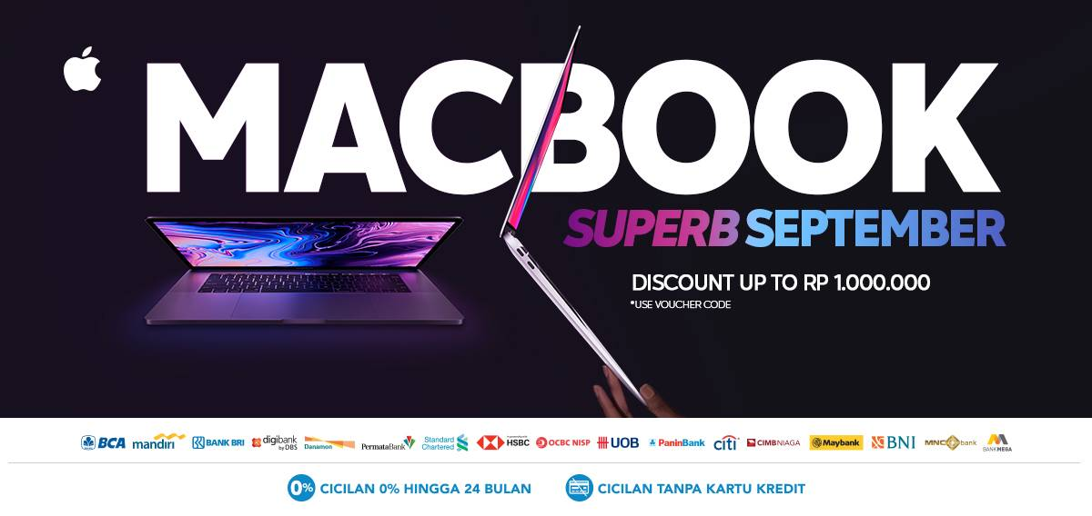 Diskon BLIBLI.COM MACBOOK Superb September Promo – Discount up to Rp 1.000.000!