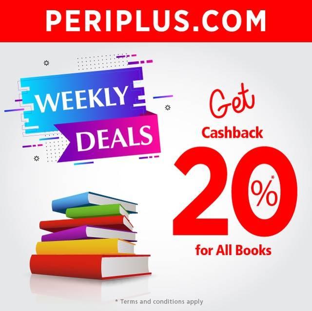 Diskon PERIPLUS Promo Cashback 20% For All Books*