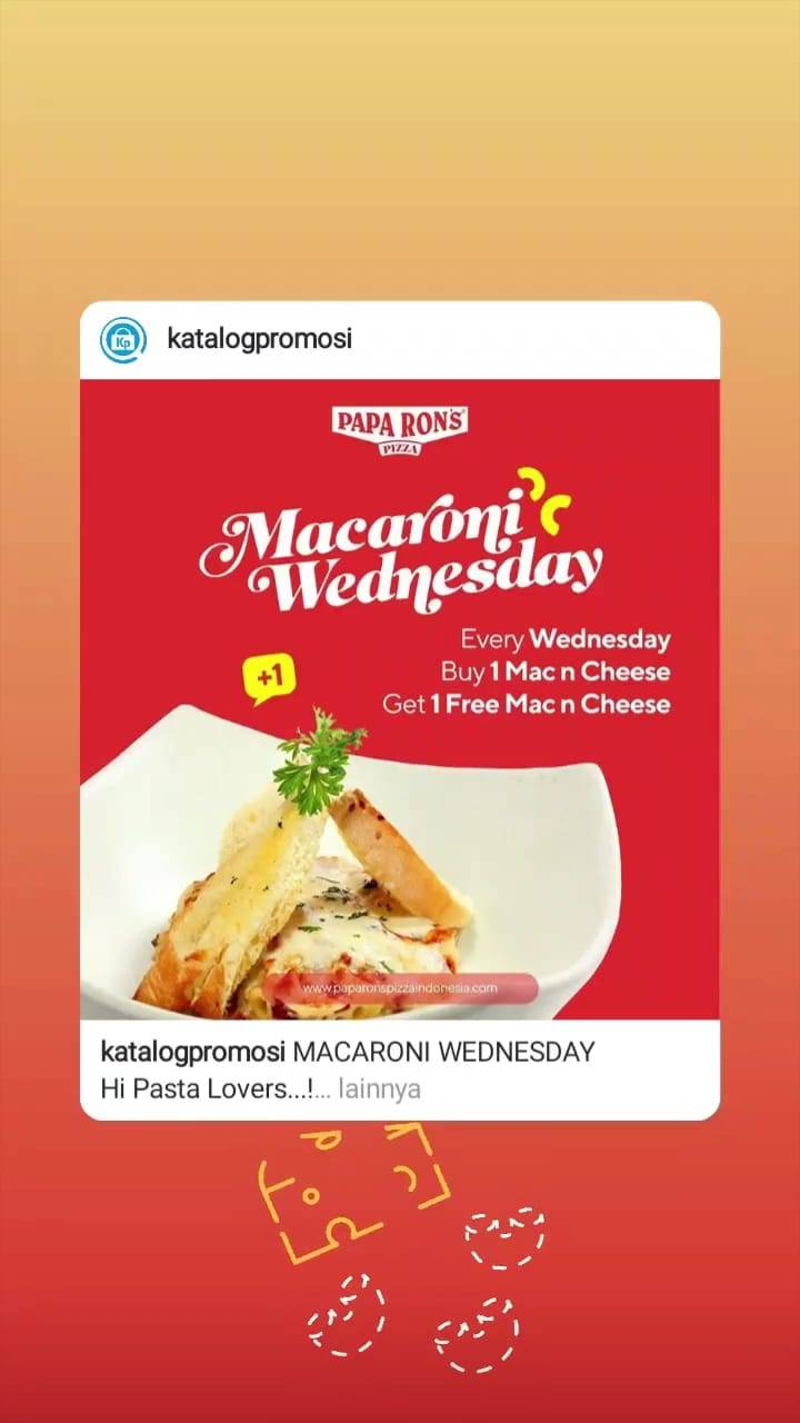 Paparonz Pizza Promo Wednesday Buy 1 Mac N Cheese Get 1 Free Mac N Cheese