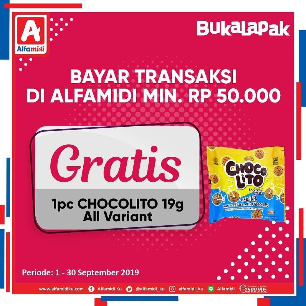 JALFAMIDI Promo GRATIS 1 pc Chocolito 19g All Variant pembayaran Via Bukalapak