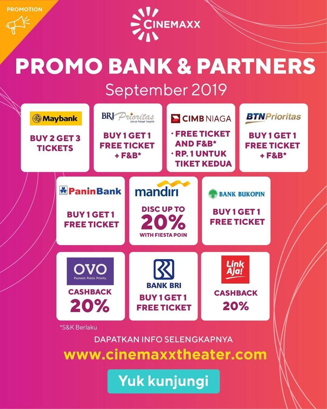 CINEMAXX Promo Beli Tiket Pakai OVO dapat Cashback 20%