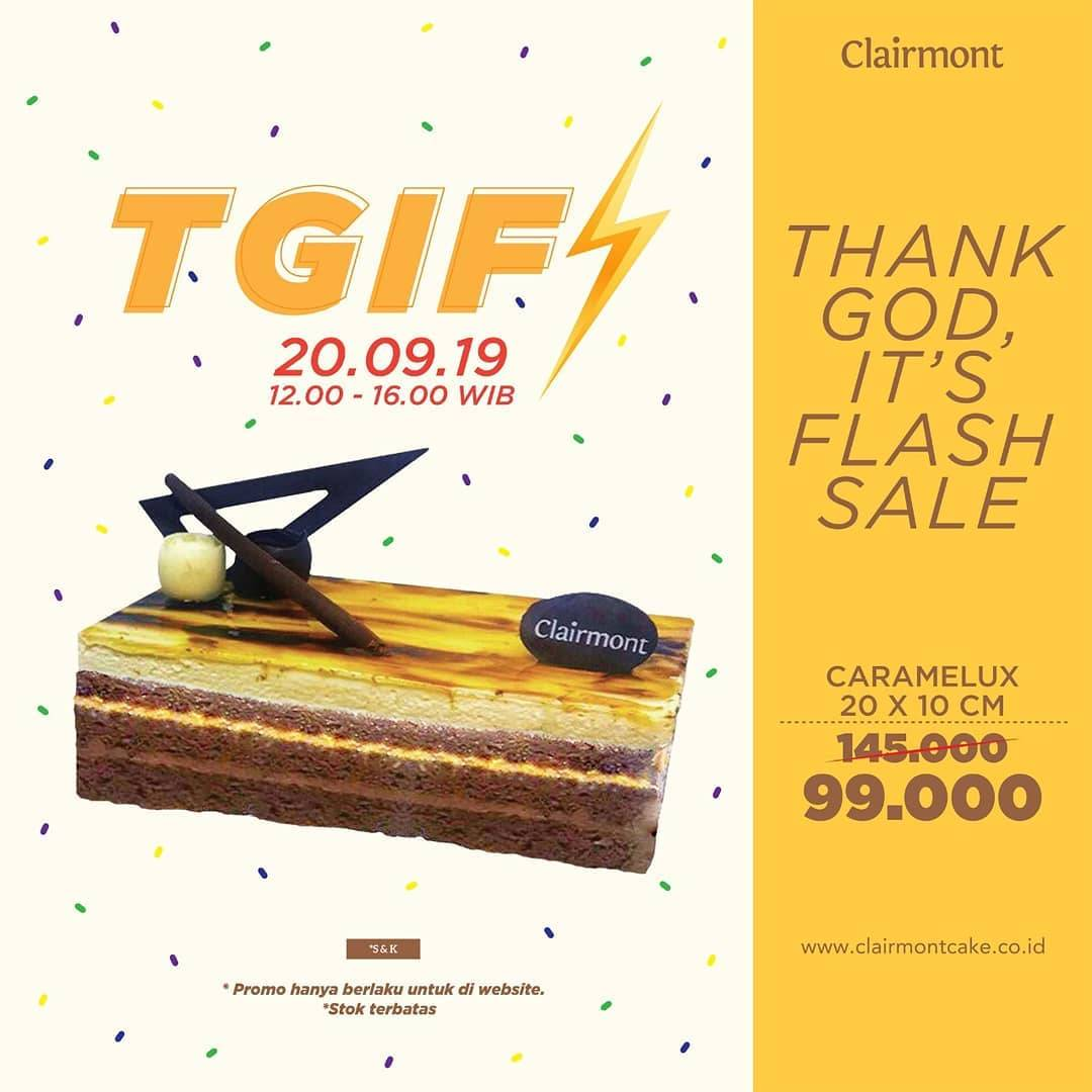 CLAIRMONT Thank God It's Flash sale Dapatkan Harga Spesial CARAMELUX hanya 99.000