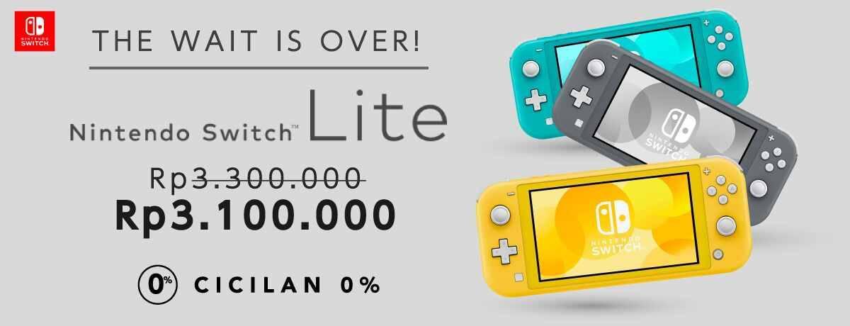 Diskon BLIBLI.COM NITENDO SWITCH LITE Hanya Rp 3.100.000 + Cicilan 0%!