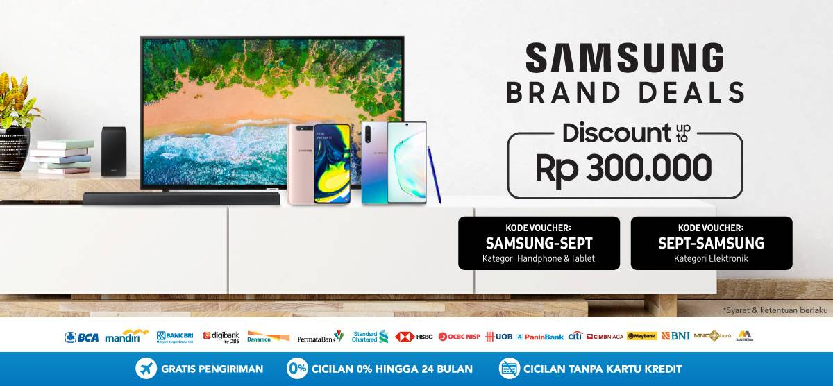 BLIBLI.COM Promo SAMSUNG Brand Week Deals Nikmati Discount up to Rp 300.000!