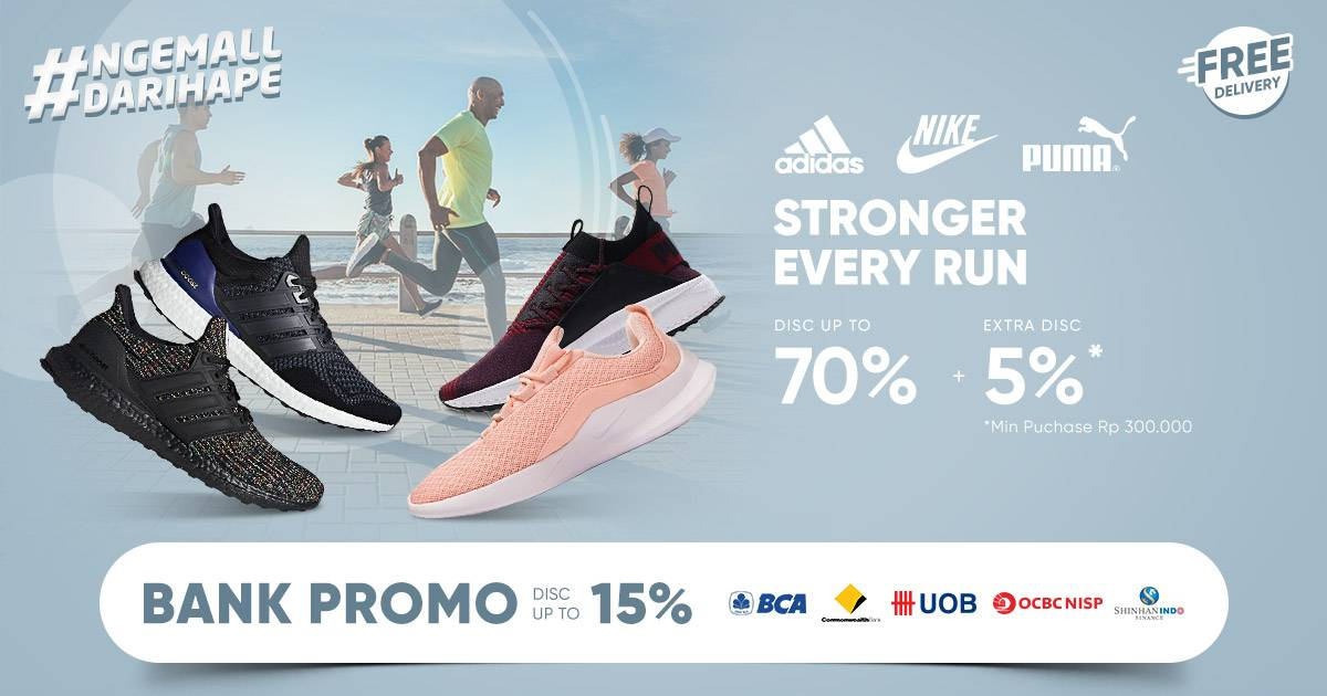 iLOTTE.COM Promo Stronger Every Run Disc up to 70% + Extra Disc 5%